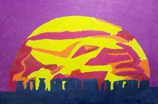 Stone Hedge Sunset